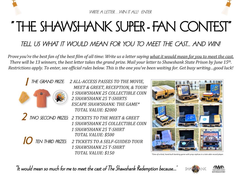 The Shawshank Super-Fan Contest! - Mansfied Reformatory
